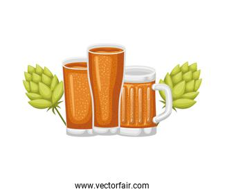 glass with beer isolated icon