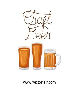 craft beer label glass isolated icon