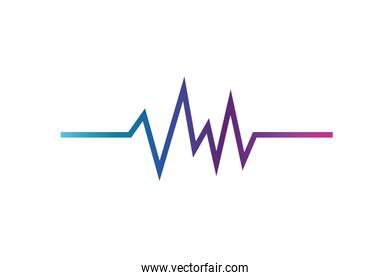 sound wave isolated icon