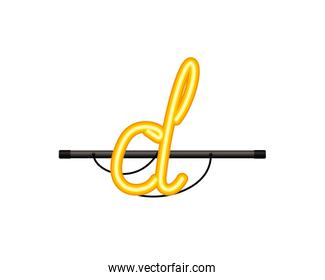 neon light letter isolated icon