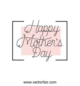 happy mothers day label icon