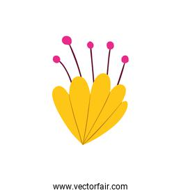 colorful flower isolated icon