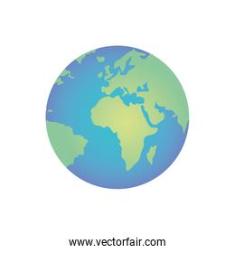planet earth isolated icon