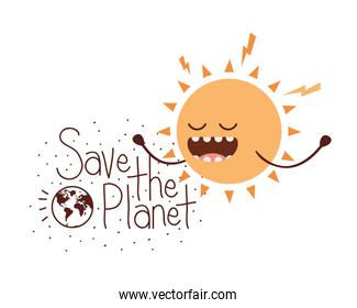 save the planet label icon