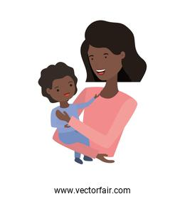 woman with baby avatar character