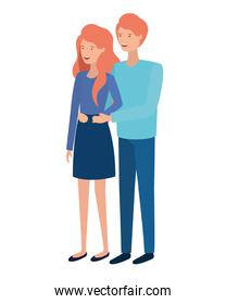 youth couple vector