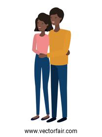 young smiling couple illustration vector