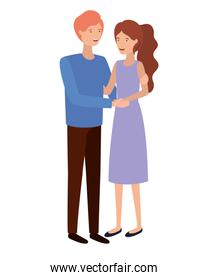 isolated young smiling couple vector