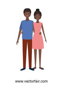 isolated young smiling couple vector design