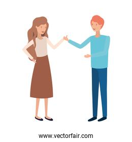 young couple vector design illustration