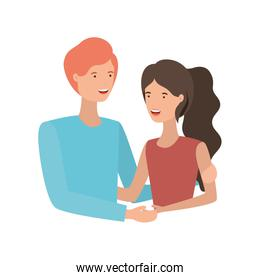 youth smiling couple representation vector design