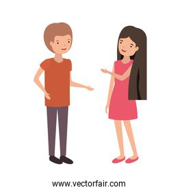 young couple design vector illustration