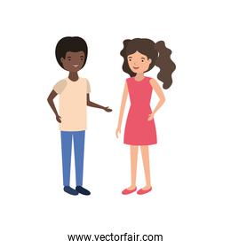 young smiling couple character vector