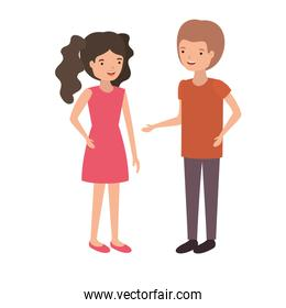 isolated youth couple design vector illustration