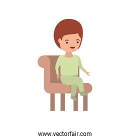 baby boy sitting on chair avatar character