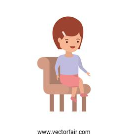 baby girl sitting on chair avatar character