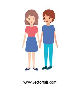 youth couple design vector illustration