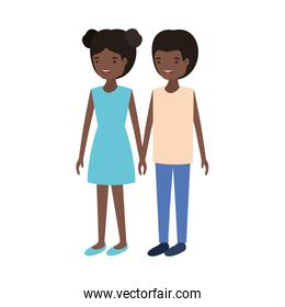 youth couple illustration vector design