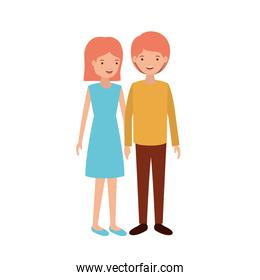 young smiling couple design vector illustration