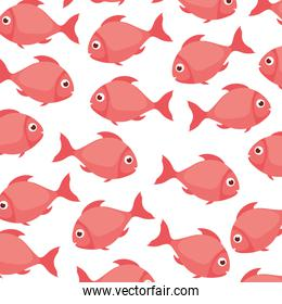 fish pattern isolated icon