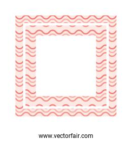 textile pattern frame isolated icon