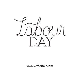 labor day label isolated icon