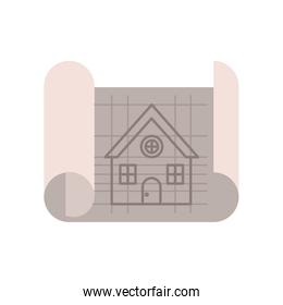 construction plan isolated icon