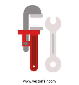 construction tools isolated icon
