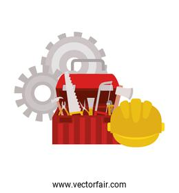 construction tool box isolated icon