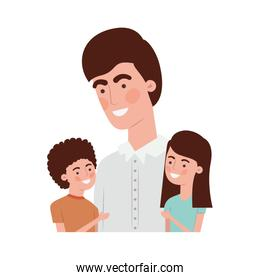 father with children avatar character
