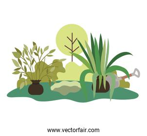 trees to plant in landscape isolated icon