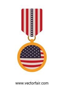 medal with the united states flag icon