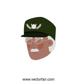 veteran head avatar character