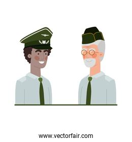 men soldiers of war avatar character