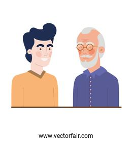 father with son avatar character