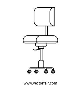 silhouette of office chair with white background