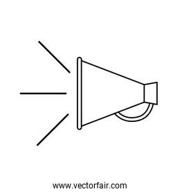 megaphone silhouette with white background