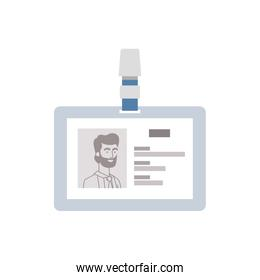 identification card with white background