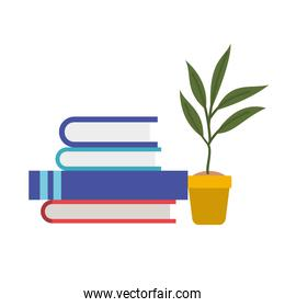 library books in white background icon
