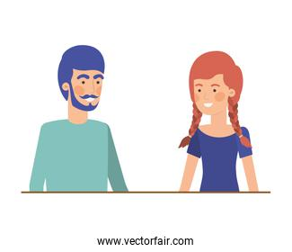 isolated young couple design
