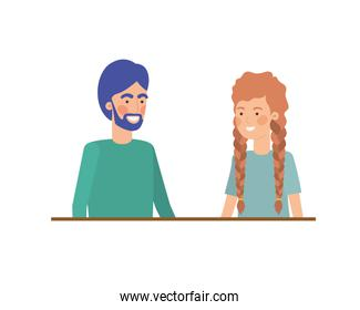 isolated youth  couple character
