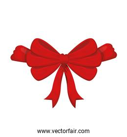 beautiful ribbon red with white background