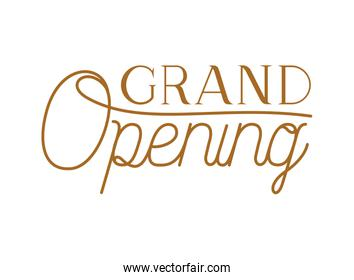 grand opening label isolated icon