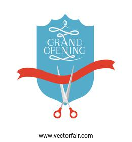 frame with label grand opening isolated icon
