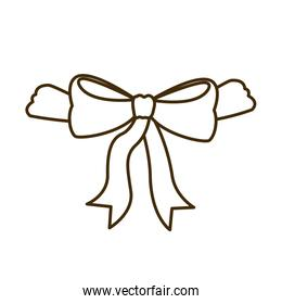 silhouette of ribbon on white background
