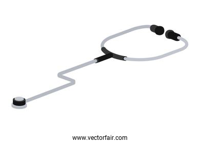 medical instrument stethoscope in white background