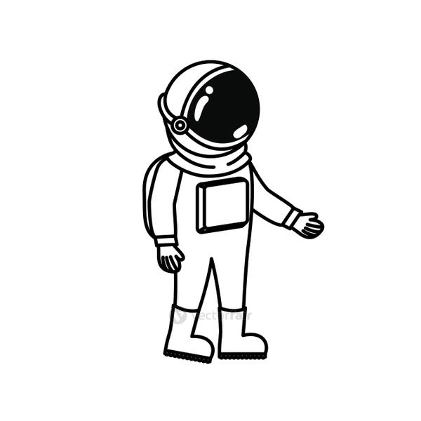 astronaut with spacesuit in white background