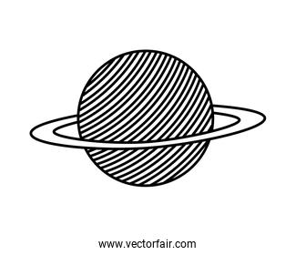 planet of the solar system isolated icon