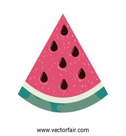 portion of watermelon and white background