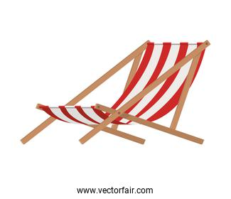 beach chair for sunbathing on white background